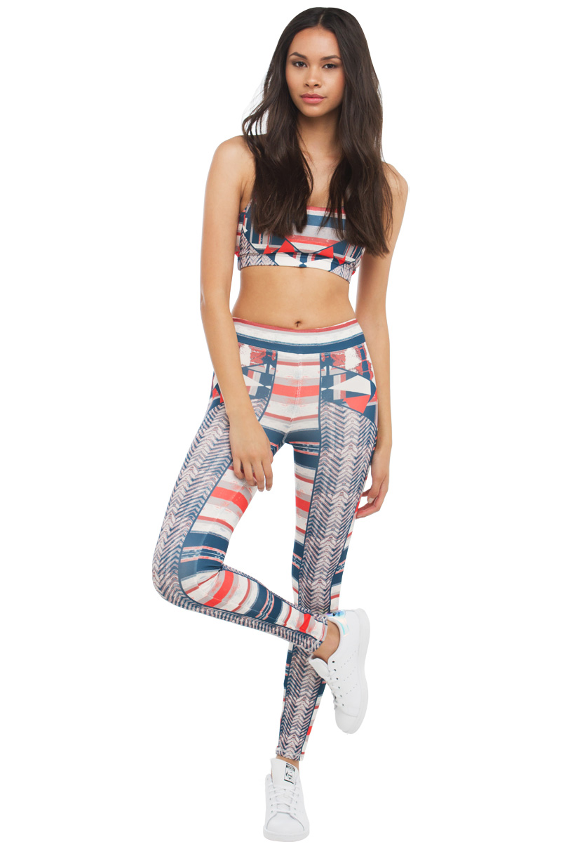 Abstract geo print workout leggings multi 1