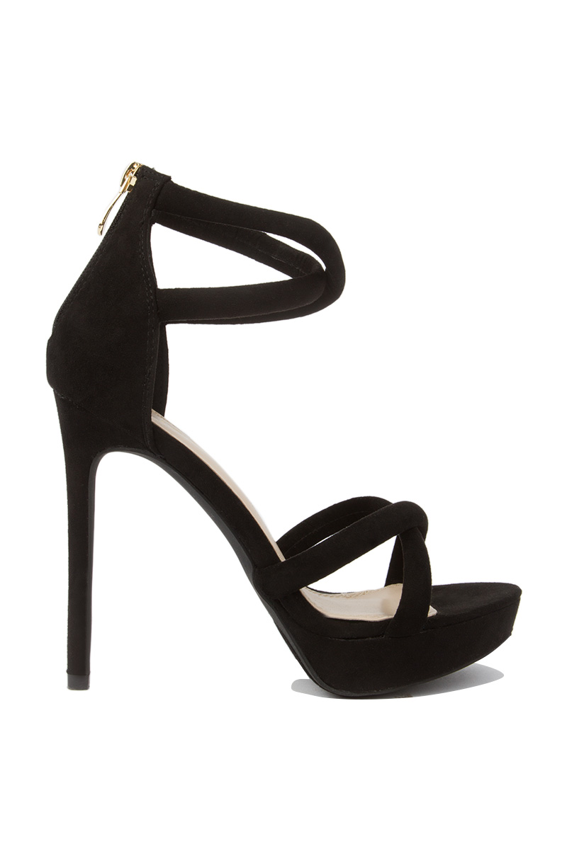 Across the world strappy sexy platform black 1