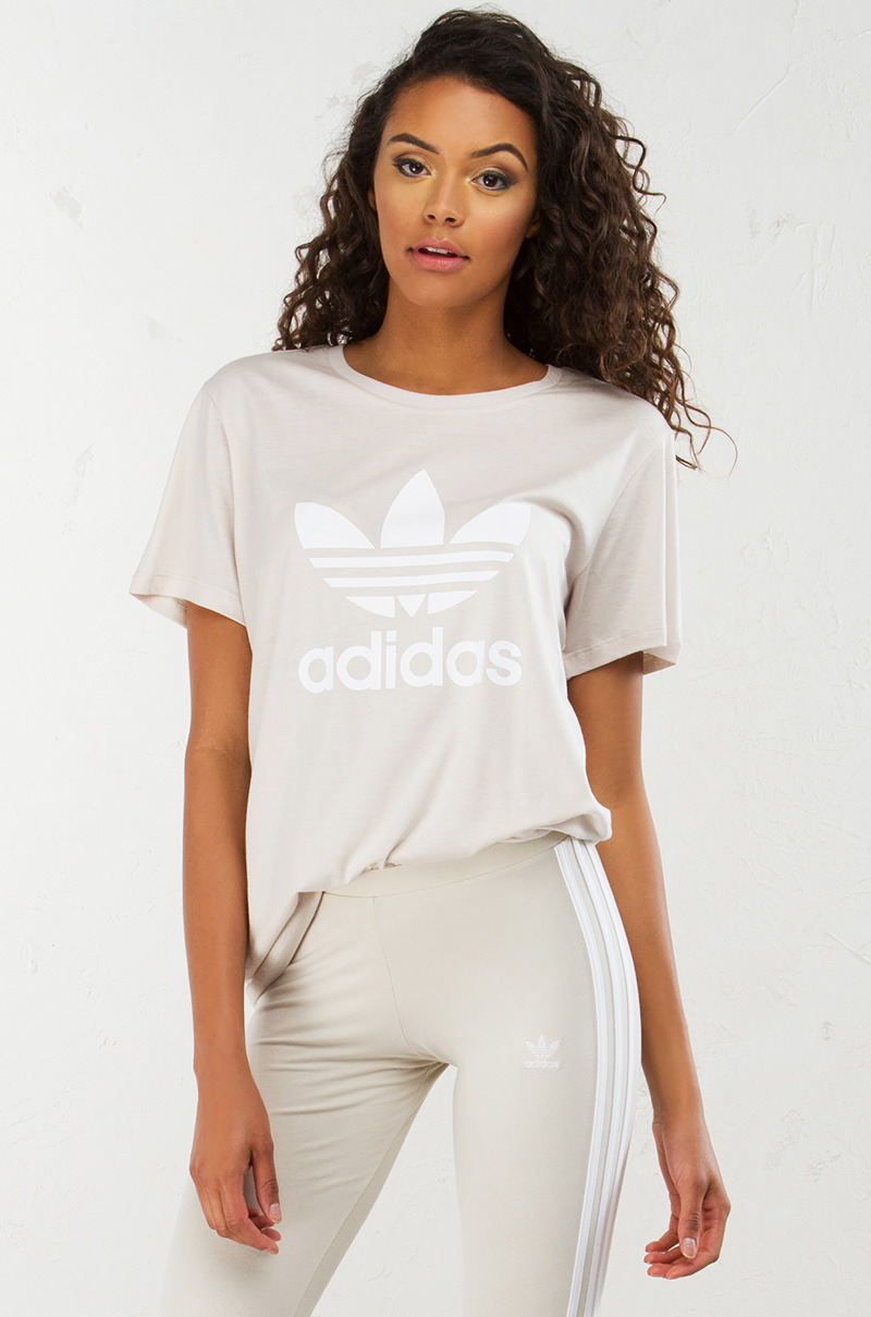 Adidas bf trefoil tee cbrown 1