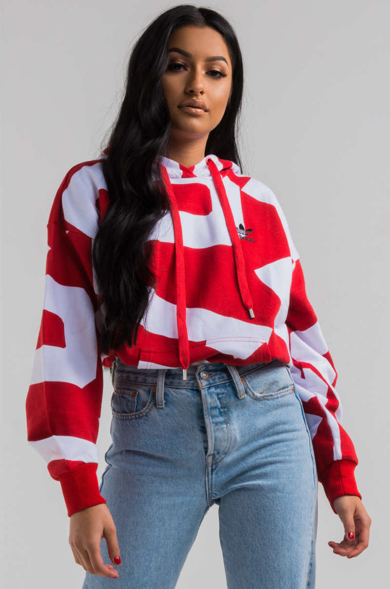 55dffbb2843 adidas Bold Age Oversize Women's Hoodie in Colred White