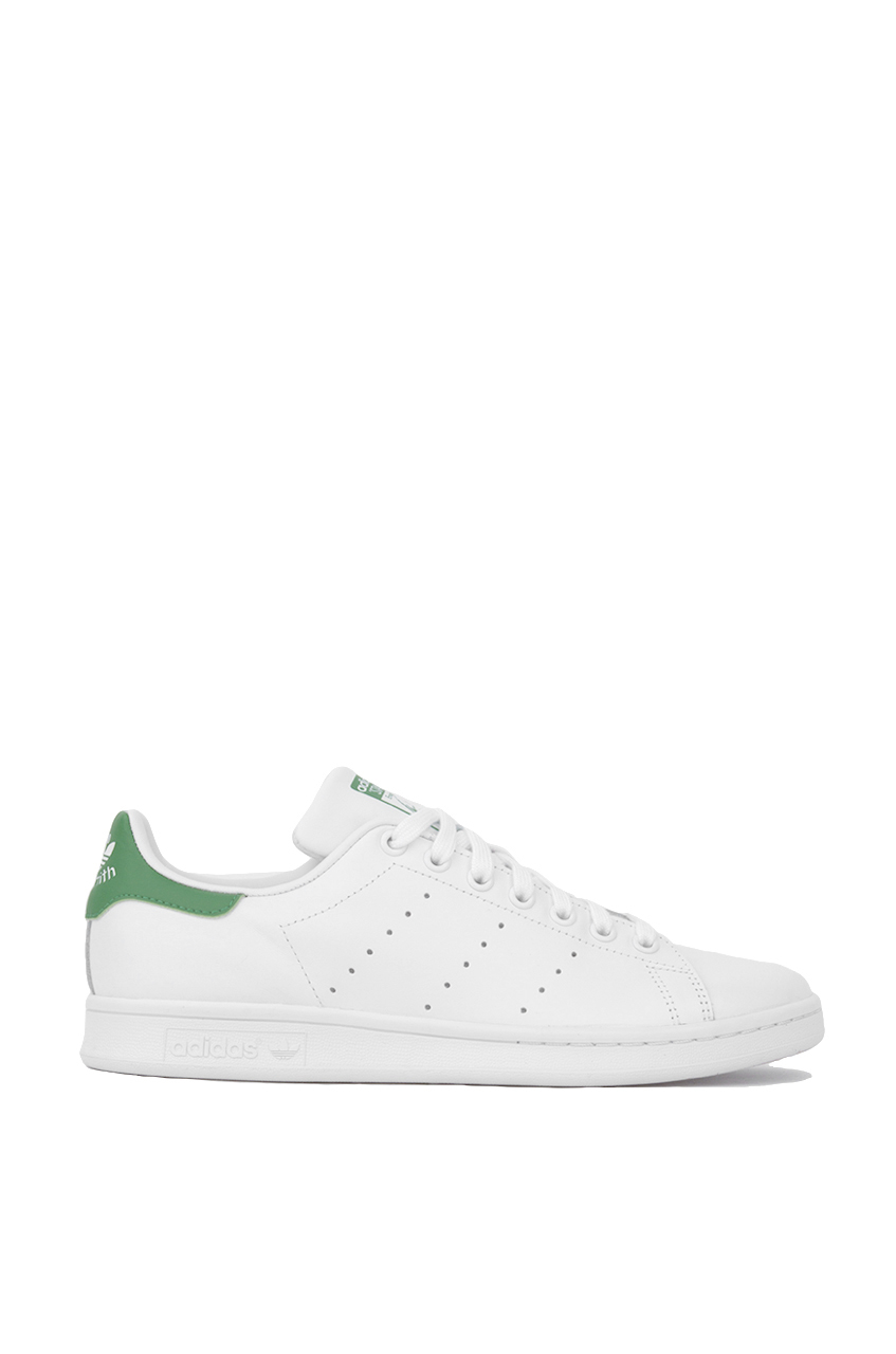 new concept d6a07 b04a3 Adidas Women s Stan Smith Sneaker in White Green
