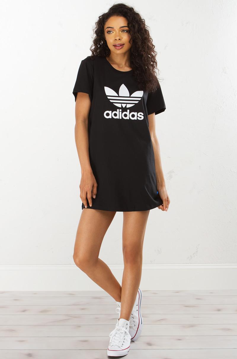 Adidas Trefoil Dress In Black
