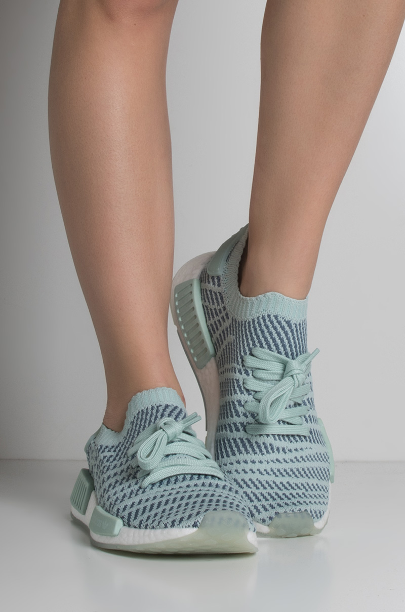 best sneakers de2f1 44acc Adidas Knitted Adjustable Shoelace Sock-Like NMD_R1 STLT PK ...