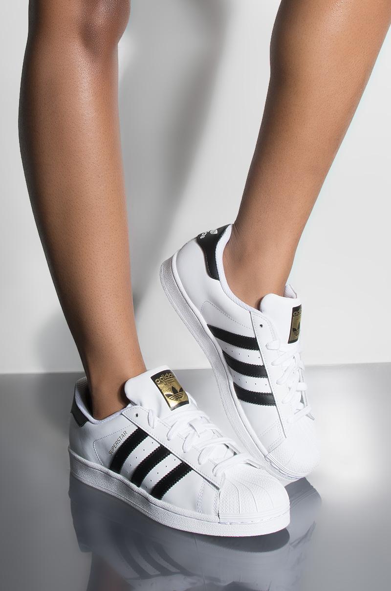 5105bd0762f7f Adidas Women's Superstar Shoe - Black/White