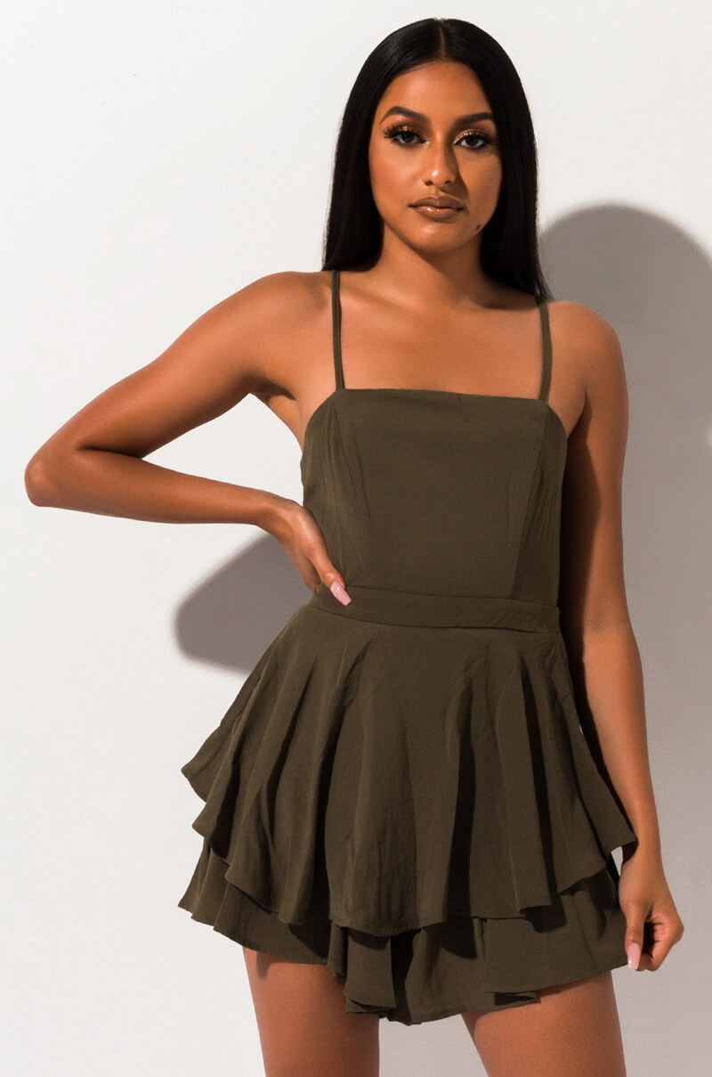 Always on point romper olive 1