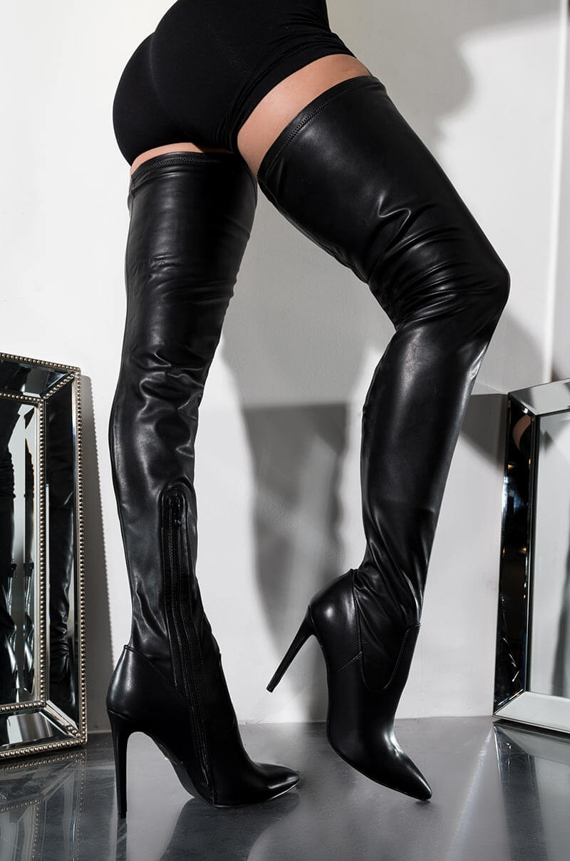 AZALEA WANG Sexy Thigh High Stiletto
