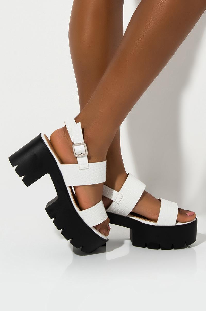 Toe Platform Sole Chunky Heel Sandal