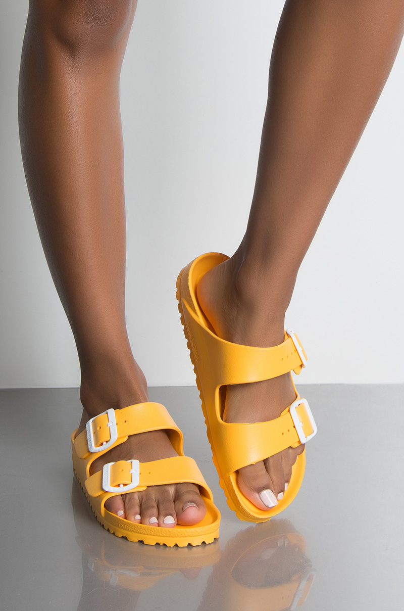 4ef7aa28c87 Birkenstock Arizona EVA Sandals in Scuba Yellow