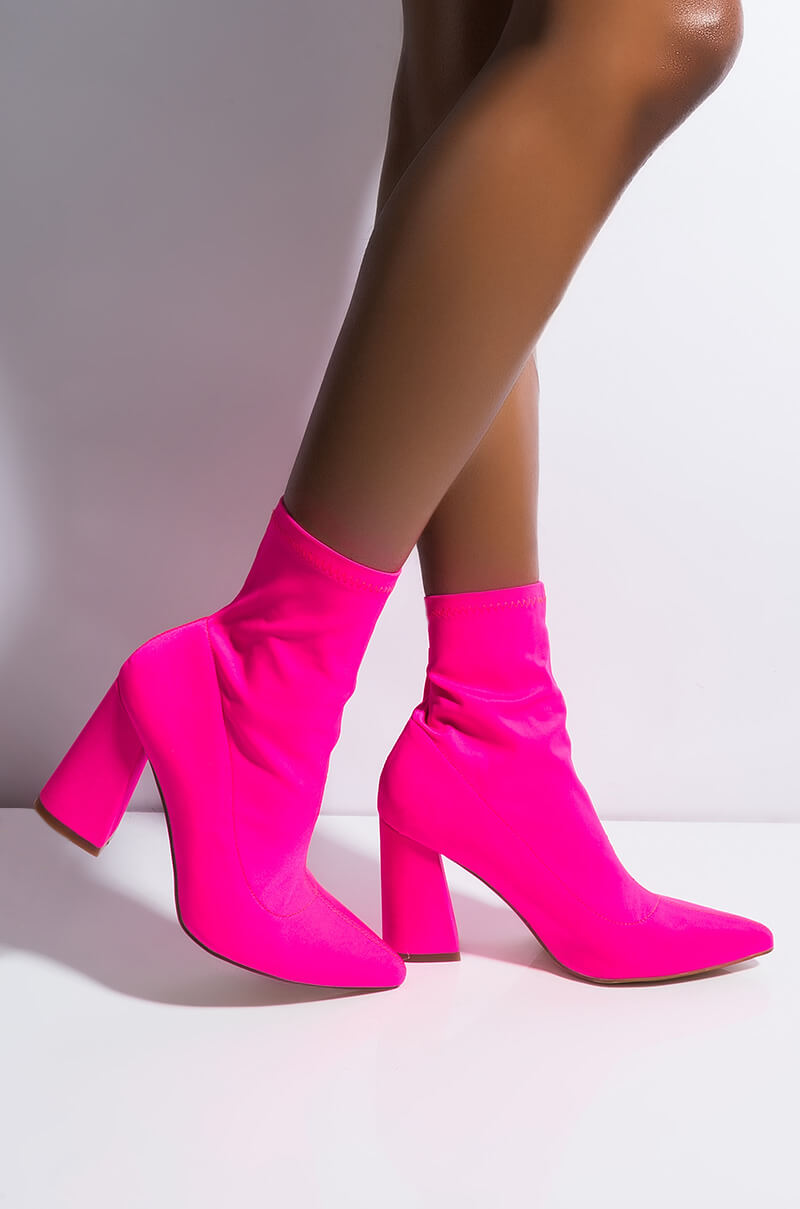 Cape Robbin Caught Up Chunky Heel Sock Bootie by Akira