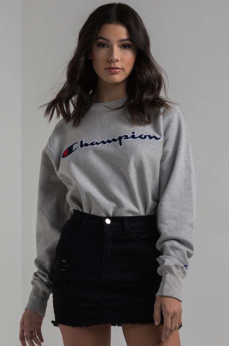3955a09f0cd Champion Women s Crewneck Sweatshirt in Black
