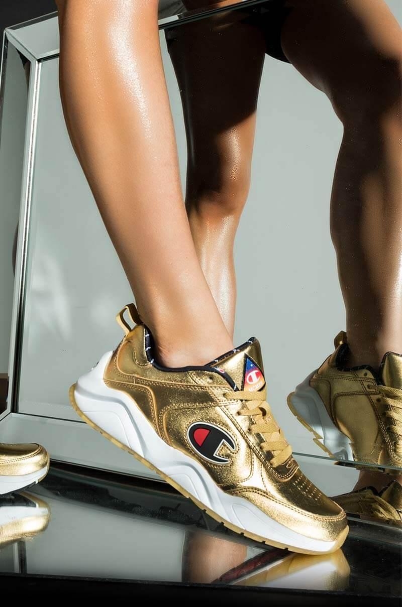 Champion 93 Eighteen NASA Sneaker in Gold