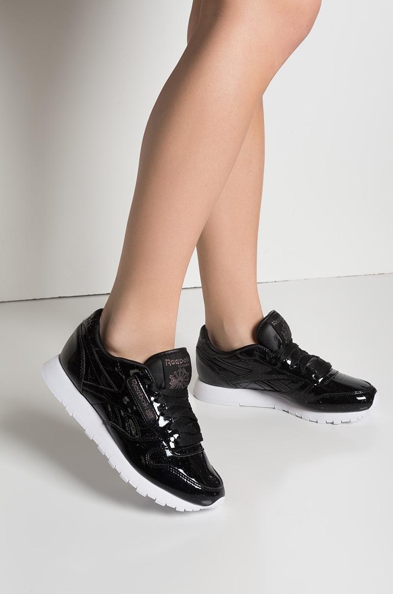 b12ab95597b Reebok Classic Leather Patent Pearl Sneaker in Pearl Black White