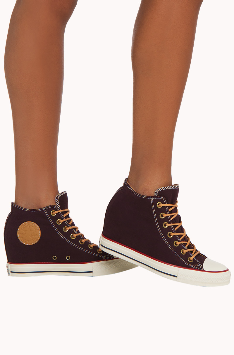 Converse Shoes I Maroon Converse Shoes I Cute Wedge