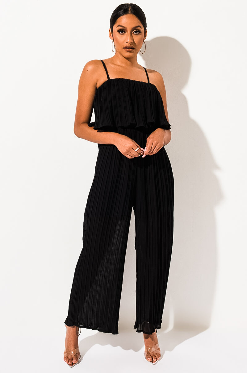 Counting Days Pleated Jumpsuit by Akira
