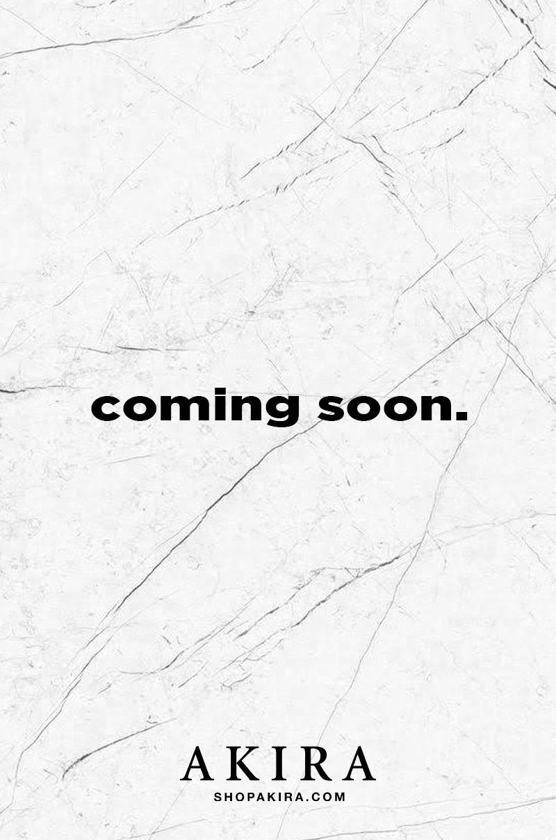 AKIRA Red Label Long Sleeve Crew Neck Tie Hem Oversized Knitted ...