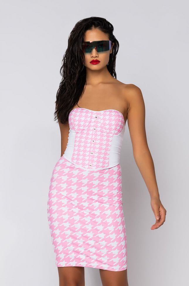 Front View 5 Star Chick Tube Dress in Pink