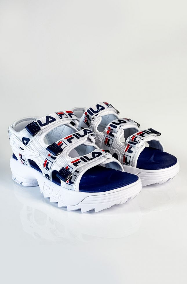 Front View 5sm00034-125 in White Fila Navy Fila Red