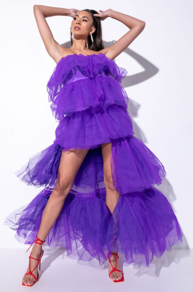 Front View Addicted To This Tulle High Low Dress