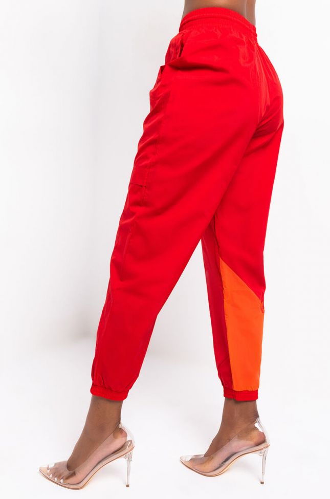 Back View Adidas Womens Japona Tp Jogger in Scarlet