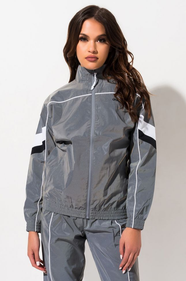 Adidas Womens Refl Tracksuit in Reflective Silver