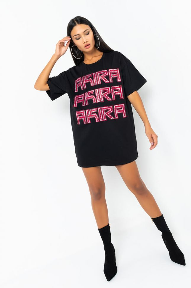 AKIRA SEASON SHORT SLEEVE T-SHIRT DRESS