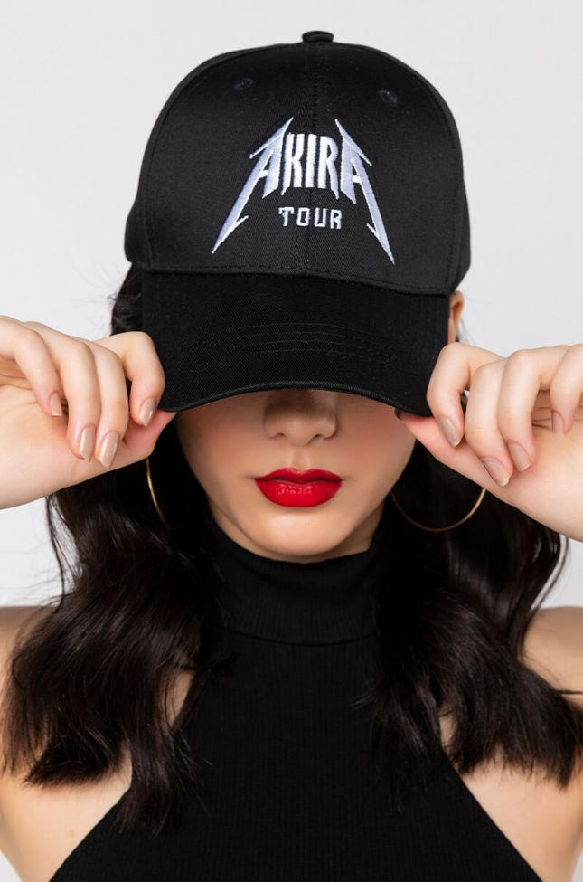 Front View Akira Tour Hat in Black