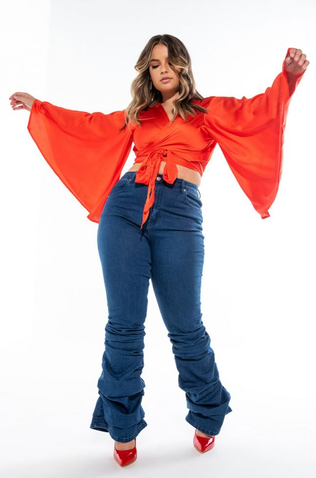 Extra View Alicia High Rise Stacked Jeans