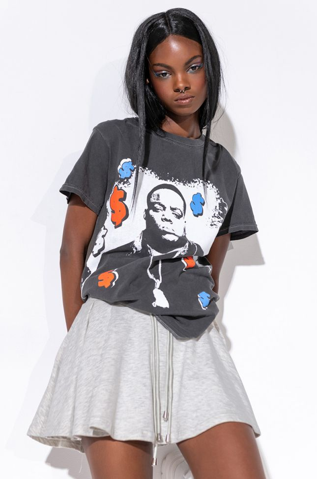 ALL ABOUT THE BENJAMINS BIGGIE GRAPHIC T-SHIRT