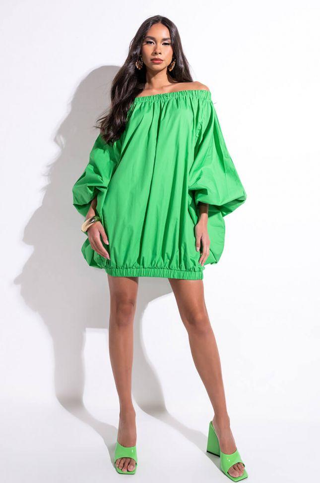 Full View All By Myself Long Sleeve Flowy Mini Dress