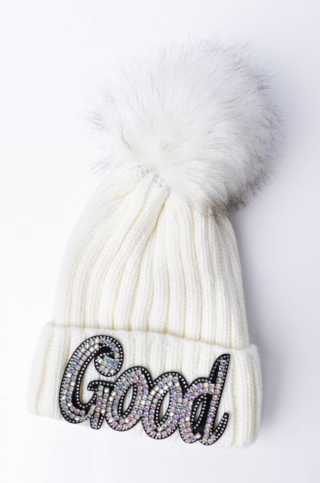 Back View All Good Thick Knit Hat
