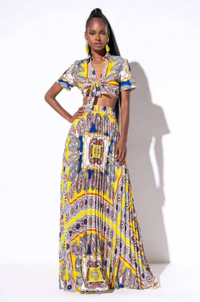 ALL OR NOTHING PLEATED MAXI SKIRT