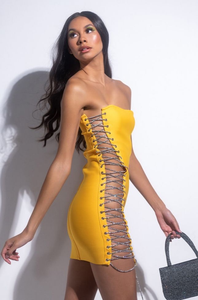 Back View All The Right Places Bandage Mini Dress