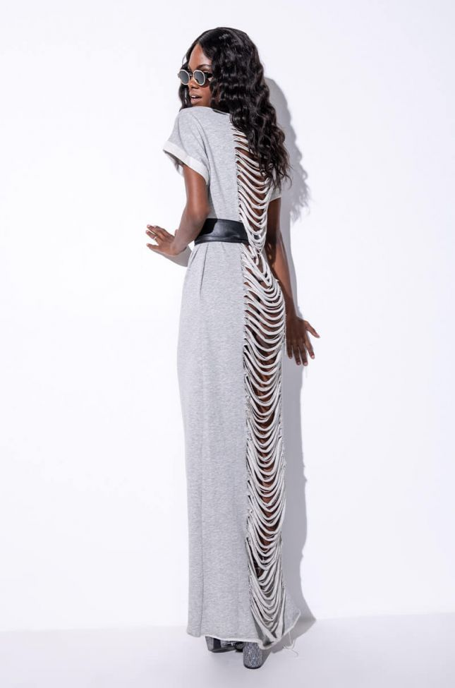 Detail View All This Maxi Dress With Distressed Back