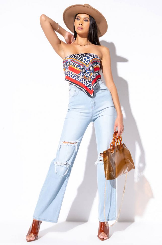ALMOST OVER HIGH WAIST RELAXED JEANS