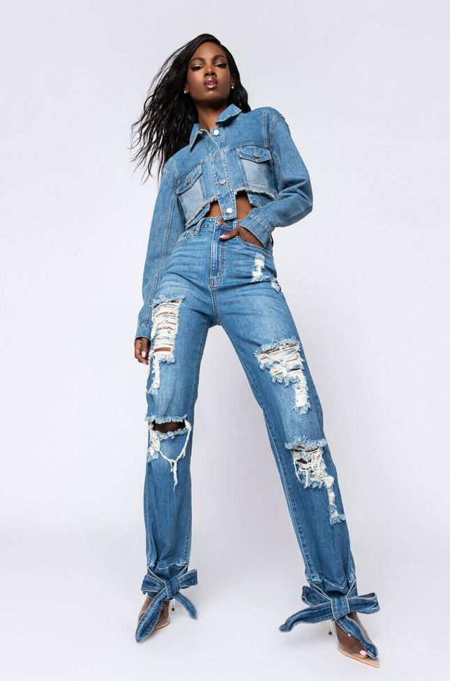 Always Doing What I Want High Rise Jeans in Medium Blue Denim