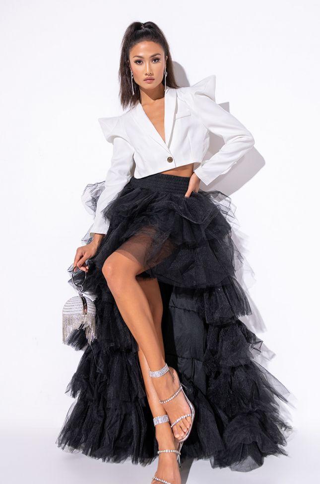 Full View Ammo X Akira Awards Show Maxi Skirt in Black
