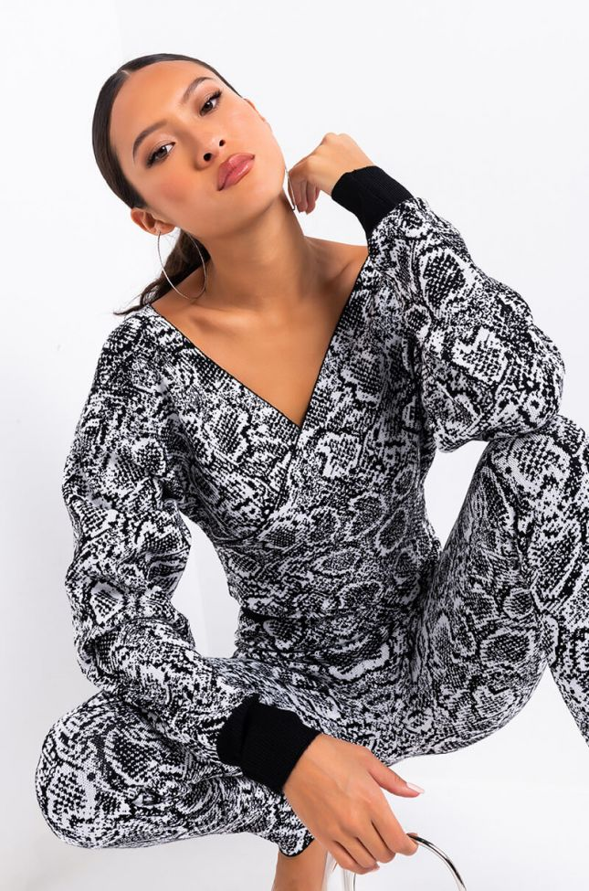 Aria Jacquard Knit Top in Black Multi