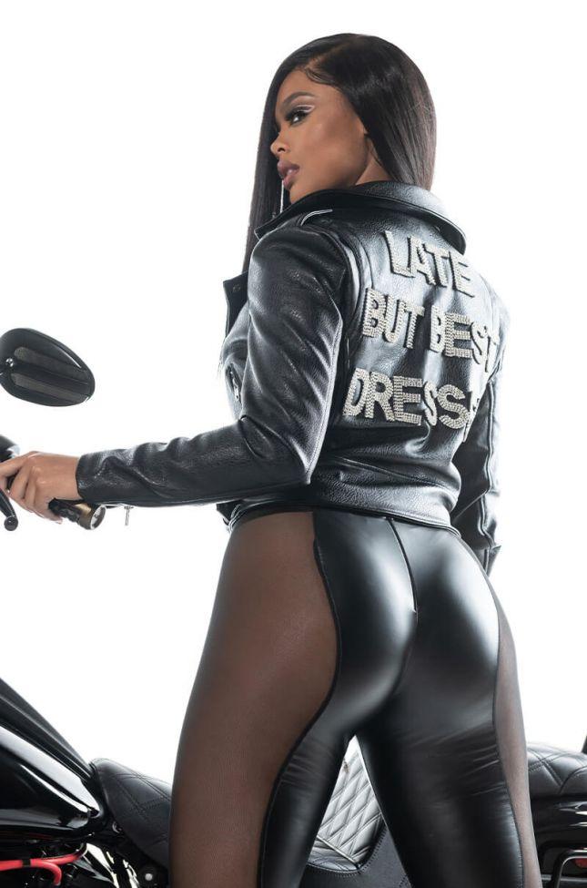 Extra View Azalea Wang Best Dressed Bling Moto Jacket