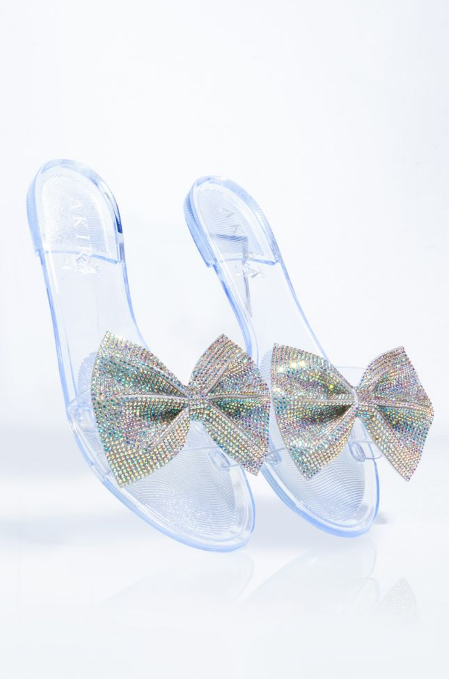 Back View Azalea Wang Catching Fire As The Wind Blows Sandal In Clear Pvc in Clear Pvc