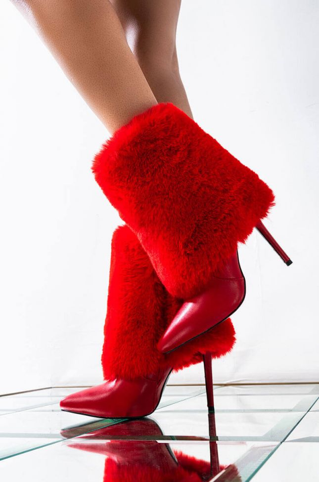 AZALEA WANG DONT PUT ME ON BOOTIE IN RED