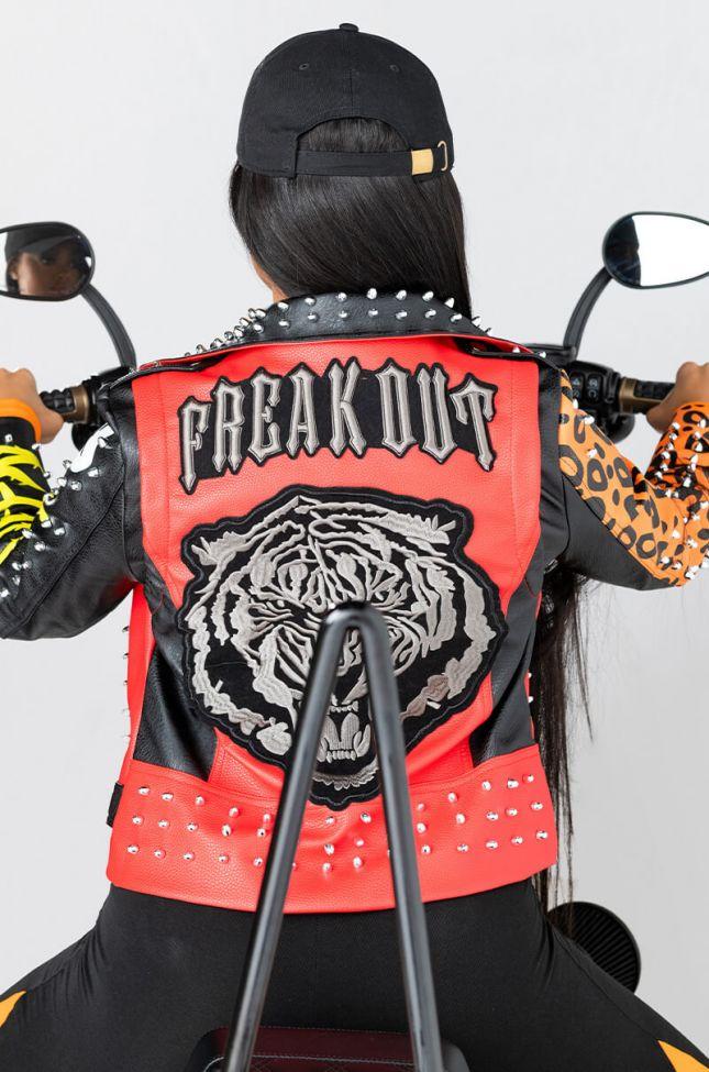 Extra View Azalea Wang Freak Out Patch Moto Jacket