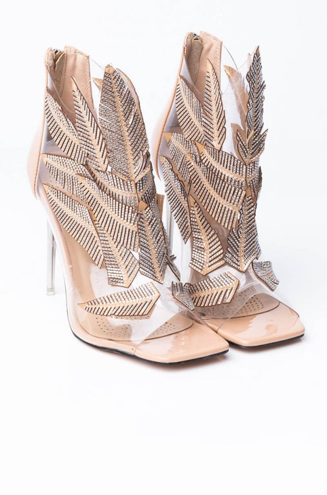 Detail View Azalea Wang Gotta Let You Know Stiletto Bootie In Nude Patent
