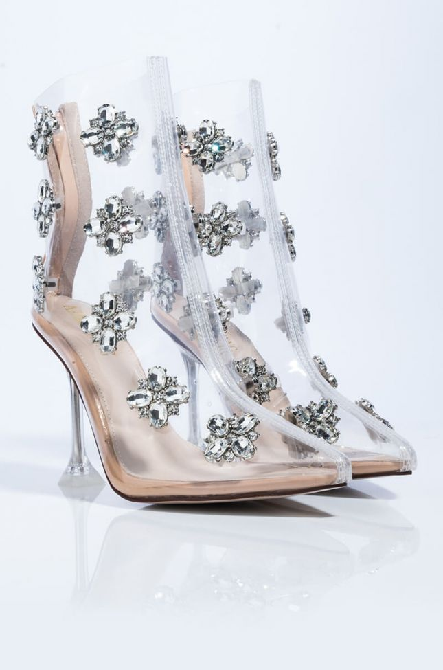 Detail View Azalea Wang I Might Just Let You Go Stiletto Bootie In Nude in Nude