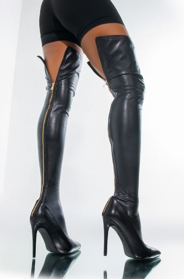 AZALEA WANG MORE THAN JUST THE NIGHT STILETTO BOOT IN BLACK