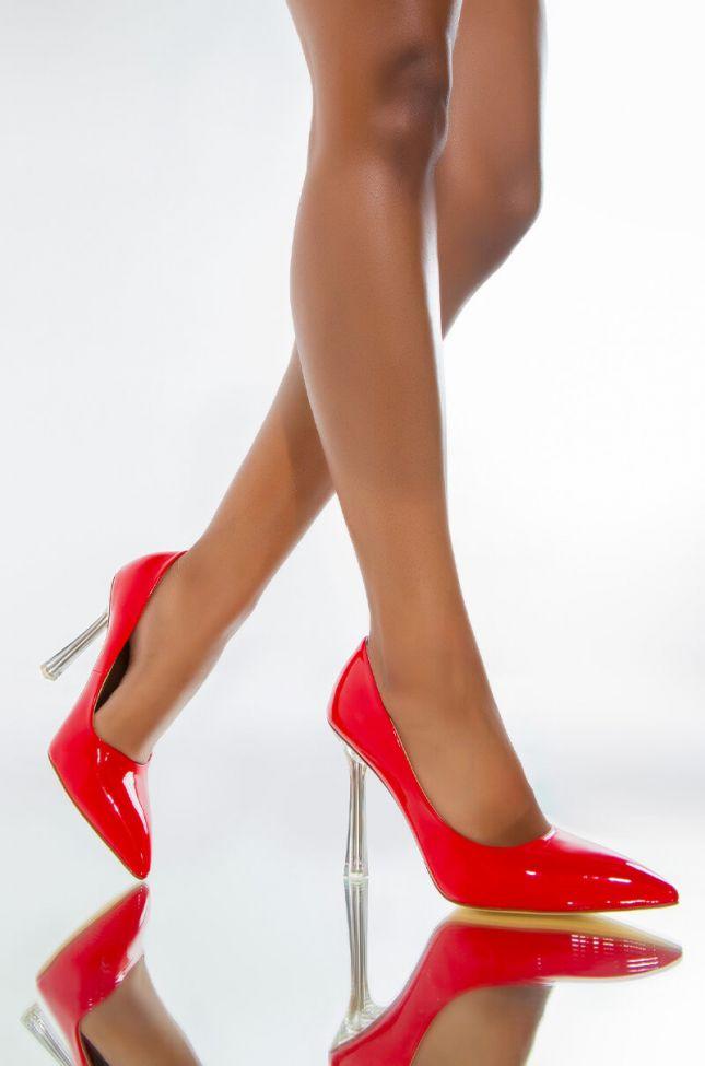 AZALEA WANG NICE GIRL STILETTO PUMP IN RED