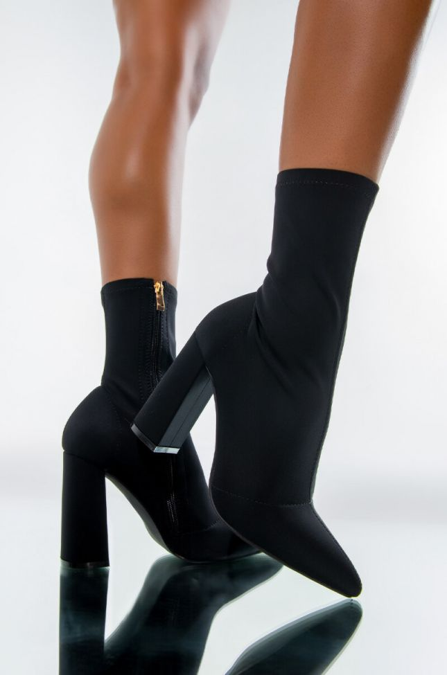 AZALEA WANG NOTHING LASTS FOREVER CHUNKY BOOTIE IN BLACK