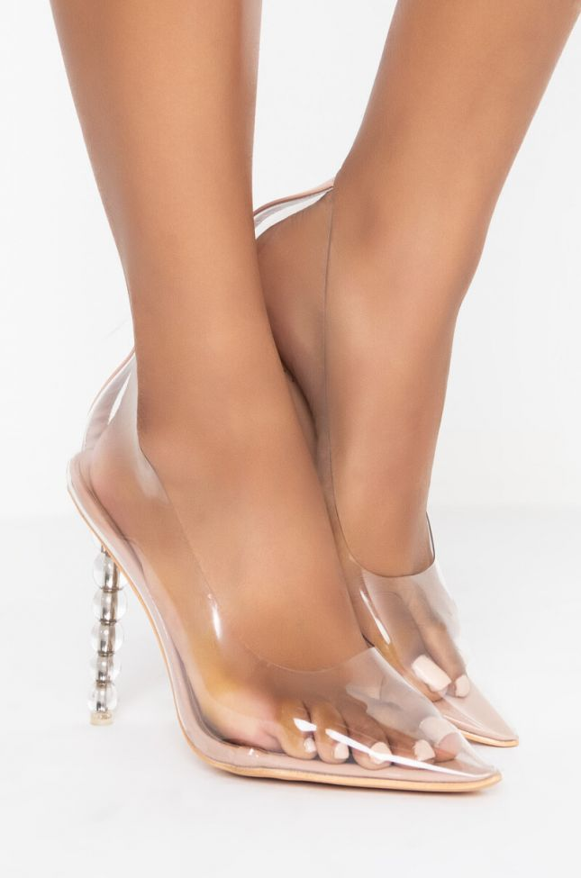Side View Azalea Wang Now You Know Me Stiletto Pump In Nude