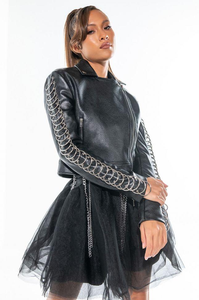 Front View Azalea Wang Ringo Moto Jacket