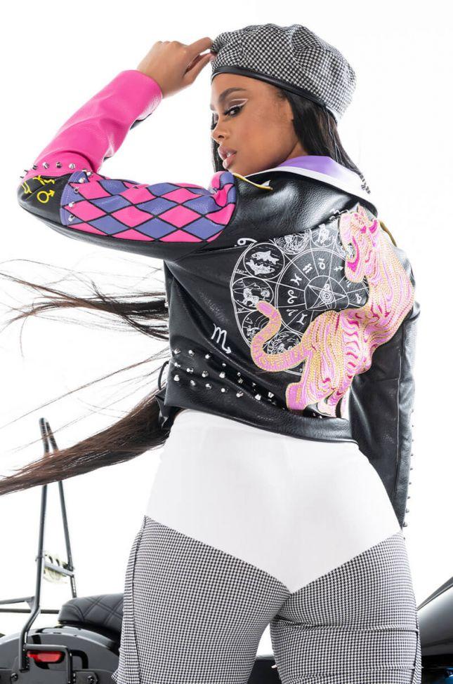 Extra View Azalea Wang Sheeba Kahn Moto Jacket
