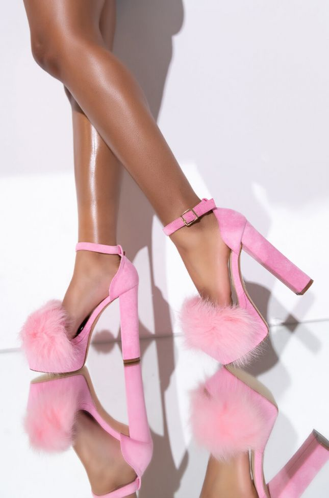 AZALEA WANG SINGLE AND READY TO MINGLE SANDAL IN PINK SUEDE